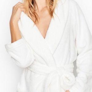 Victoria Secret plush short hooded robe
